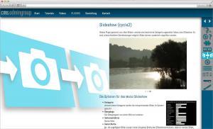 Internetauftritt für unser Content Management System
