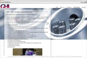 Website für die Nidderauer Firma GHI
