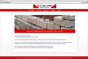 Websitegestaltung und Homepageerstellung für M.D. Bau aus Gelnhausen