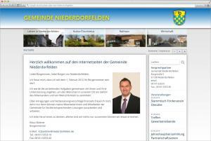 Gestaltung und Umsetzung des Internetauftrittes für die Gemeinde Niederdorfelden