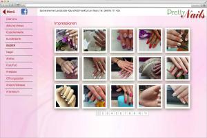 Website für Nagelstudio in Frankfurt