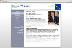 Internetauftritt für Rechtsanwalt Friedrich W. Siemers