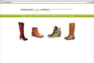 Homepageerstellung für Schuhgeschäft aus Frankfurt