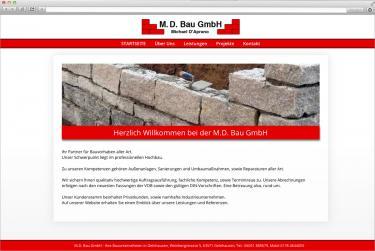 Websitegestaltung und Homepageerstellung für M.D. Bau aus Gelnhausen (bsp_mdbau.jpg)