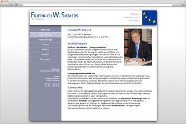 Internetauftritt für Rechtsanwalt Friedrich W. Siemers (bsp_siemers.jpg)